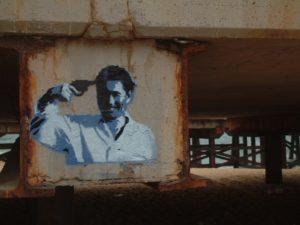 Takeshi Kitano 'Sonatine' graffiti. Source: Wikicommons Author: Eduard Maluquer